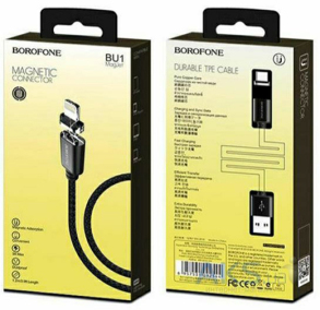 Кабель USB BOROFONE BU8 Apple03071 Black